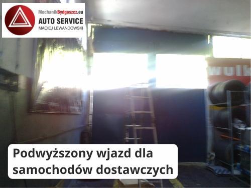 Podwyższony wjazd dla samochodów dostawczych - Mechanik Bydgoszcz