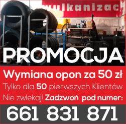 Wymiana Opon Bydgoszcz Promocja Mechanik Bydgoszcz