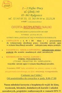 OHP Bydgoszcz – nabór