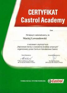 Certyfikat_Castrol-Mechanik_Bydgoszcz